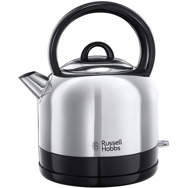 Russell Hobbs Polished Stainless Steel Cordless Dome Kettle