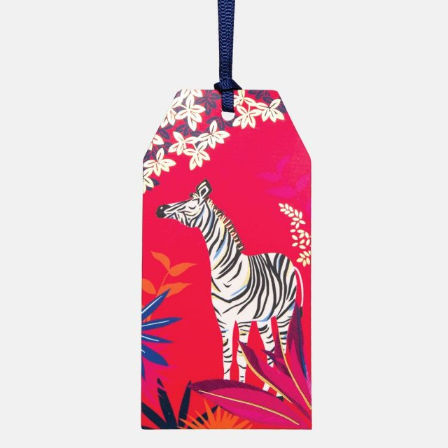 Sara Miller London Sara Miller Zebra Tag Pack of 6