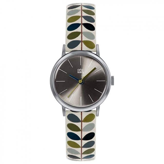 orla kiely alarm watch, orla kiely leather strap watch, orla kiely linear stem watch, orla kiely ivy