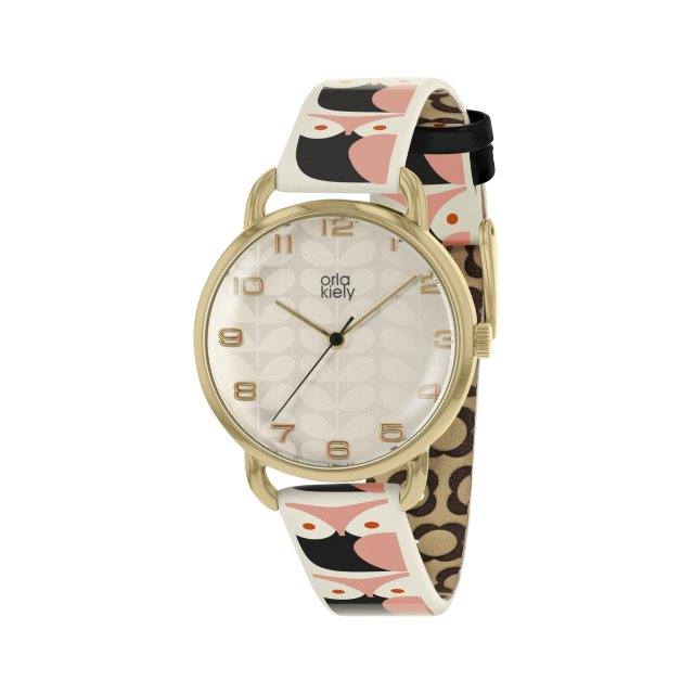 Orla Kiely Orla Kiely Avery Stem Watch Owl Strap