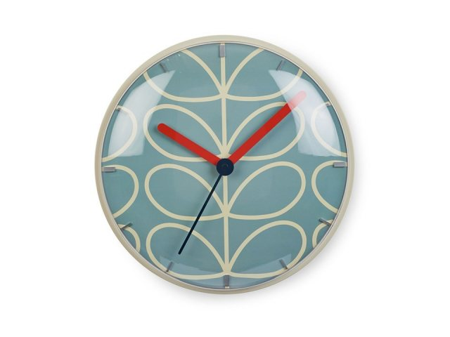 Orla Kiely Orla Kiely Linear Stem Wall Clock Sky Blue