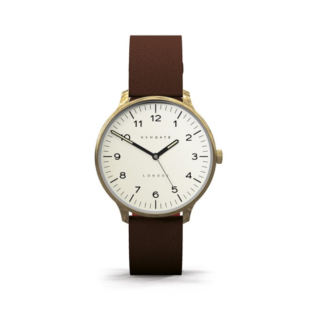 Newgate The Blip Brown Leather Strap Watch