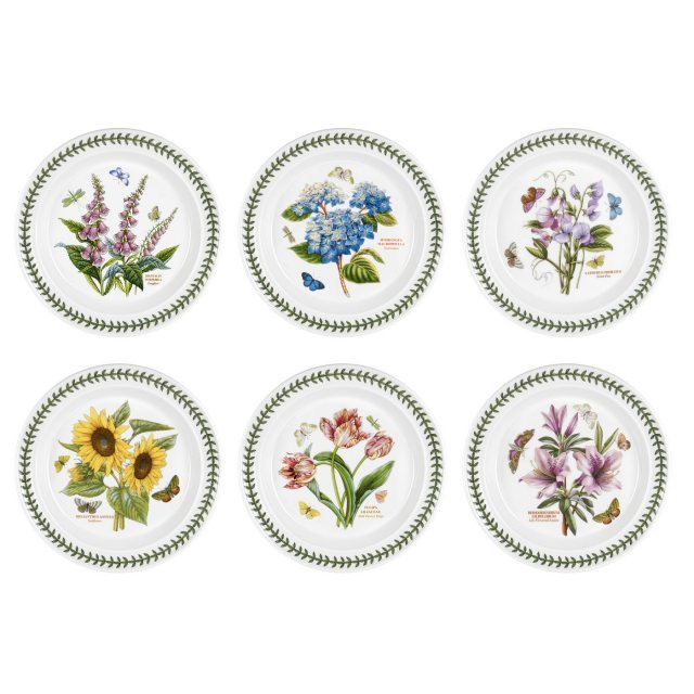 Portmeirion Botanic Garden 10 inch Plate Set Of 6