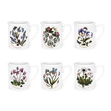 Portmeirion Botanic Garden Breakfast Mugs Set of 6