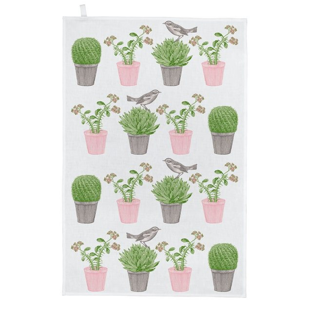 Thornback & Peel Cactus & Bird Tea Towel