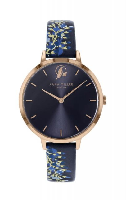 Sara Miller London Sara Miller Wisteria Watch in Rose Gold and Navy
