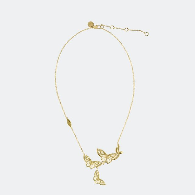 Sara Miller London Sara Miller Butterfly Necklace Gold