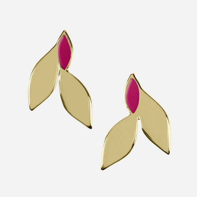 Sara Miller London Sara Miller Azura Leaf Stud Earrings