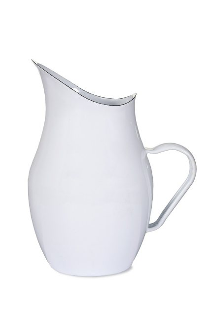 Garden Trading White Enamel Water Pitcher