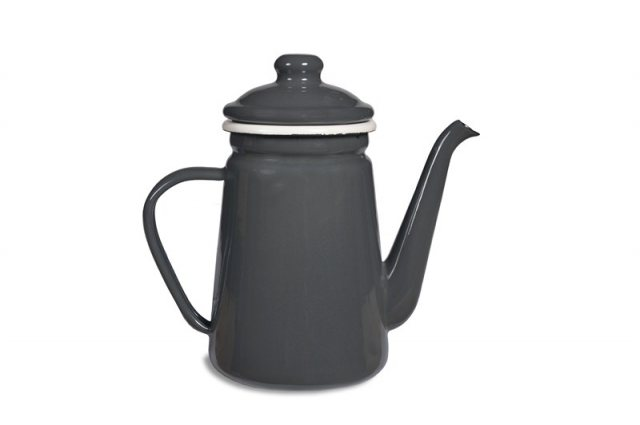 Garden Trading Enamel Coffee Pot in Charcoal