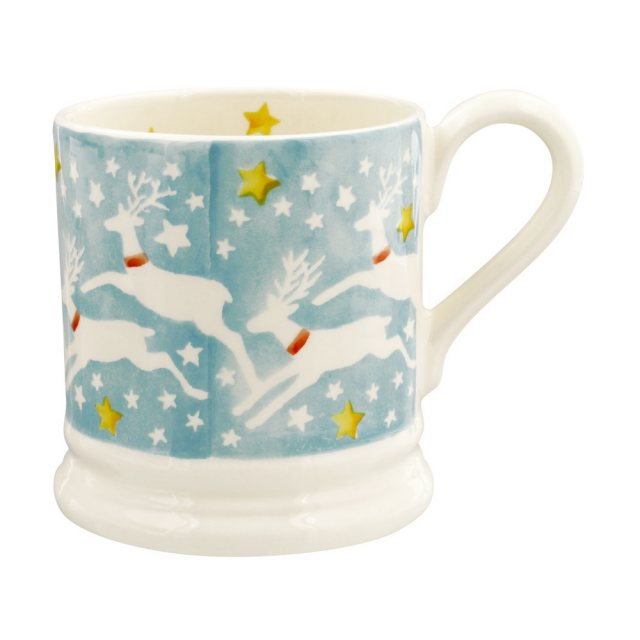 Emma Bridgewater Reindeer In The Sky 1/2 Pint Mug