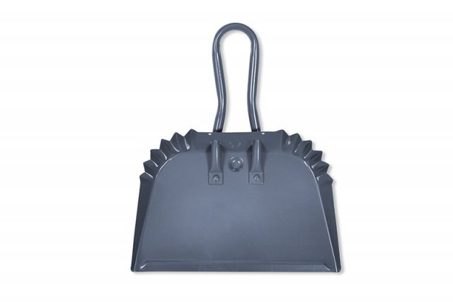 Garden Trading Steel Workshop Small Dustpan in Charcoal