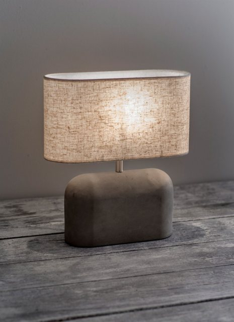 Garden Trading Millbank Slab Table Lamp - Polymer Concrete