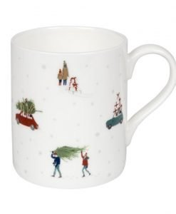 Sophie Allport Home For Christmas White Mug