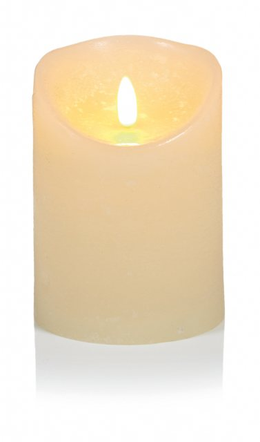 Premier Cream Flickerbright Textured Candle With Timer 23x