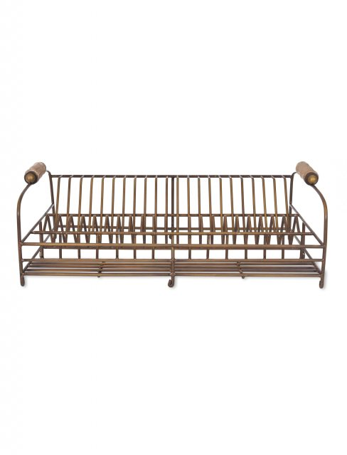 Garden Trading Brompton Dish Rack Antique Brass Finish
