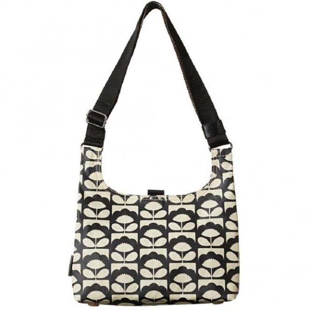 Orla Kiely Orla Kiely Spring Bloom Matt Laminated Mini Sling Bag - Charcoal