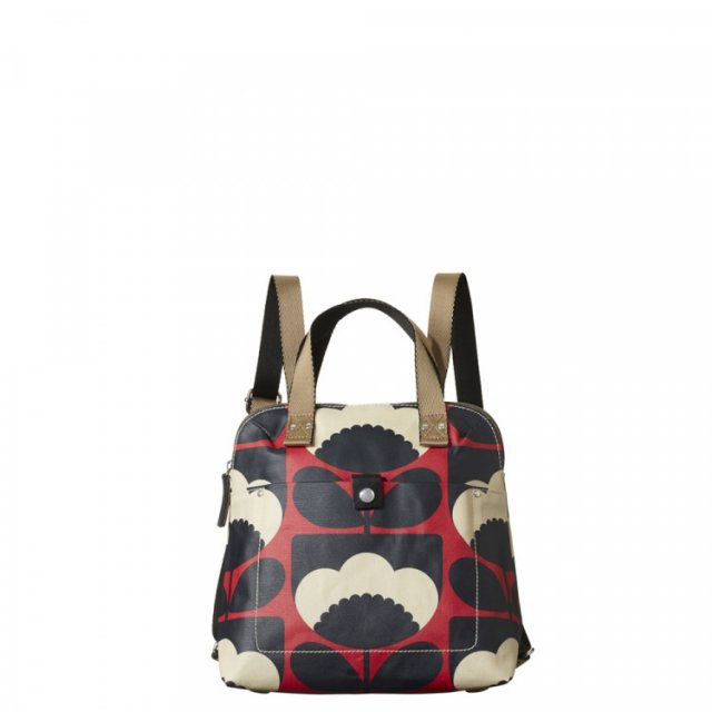 Orla Kiely Orla Kiely Spring Bloom Poppy Small Backpack Tote