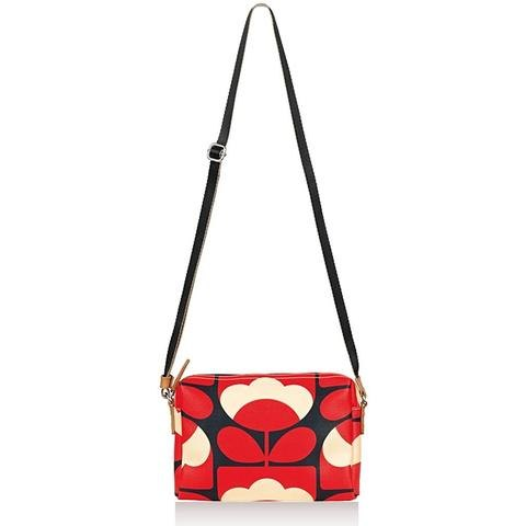 Orla Kiely Orla Kiely Spring Bloom Small Crossbody Bag - Poppy