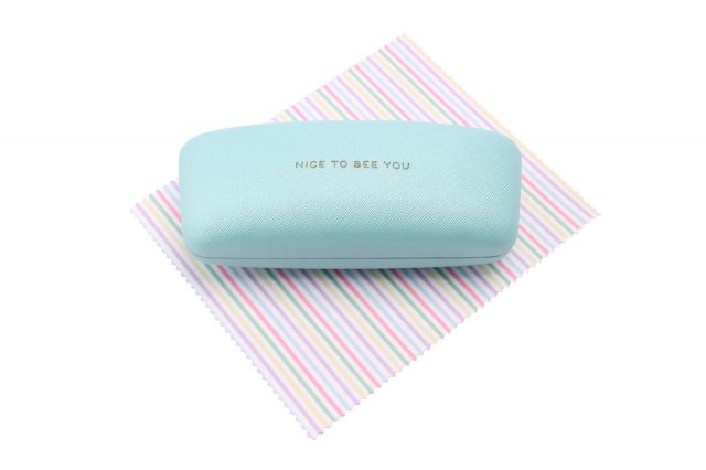 Blue Nice To See You Glasses Case