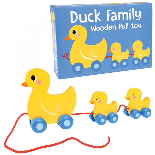 Rex London Duck Family Wooden Pull Toy