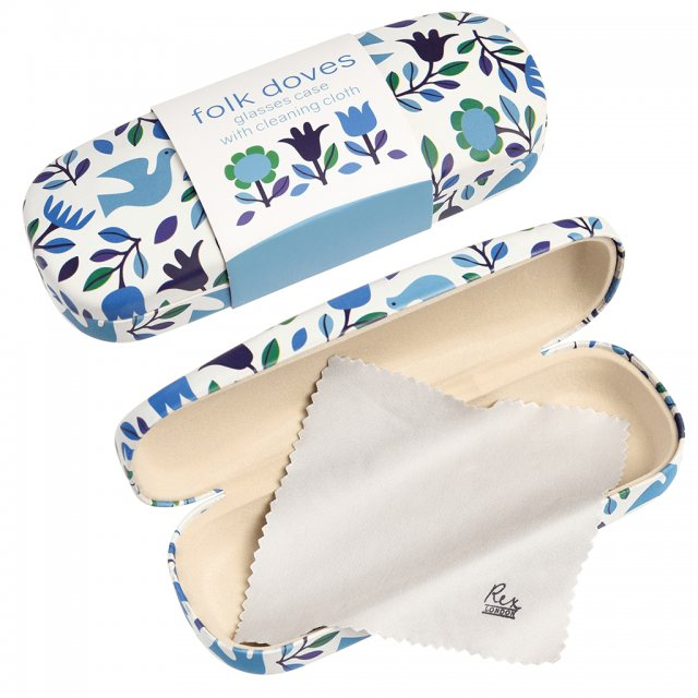 Rex London Folk Doves Glasses Case And Cloth