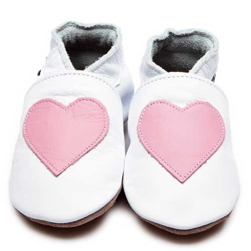 Inch Blue Love Pink Heart Shoes 6-12m