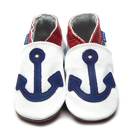 Inch Blue Blue Anchor Shoes 6-12m
