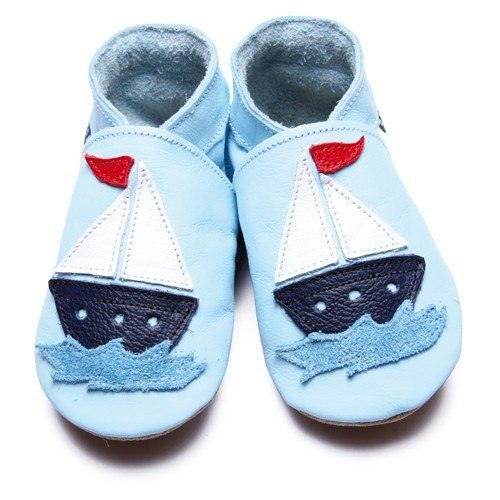 Inch Blue Baby Blue Sail Boat Shoes 6-12m