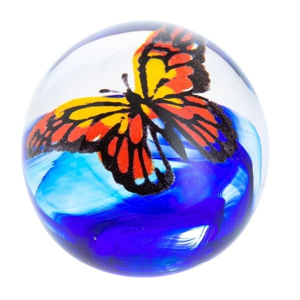 Abstract Butterfly Flight Of The Monarch Paperweight