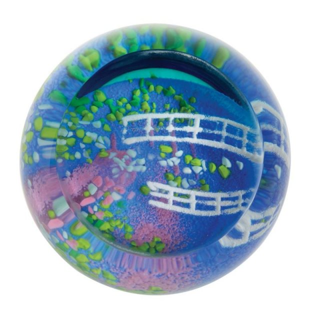 Abstract Impressions Lily Pond Paperweight