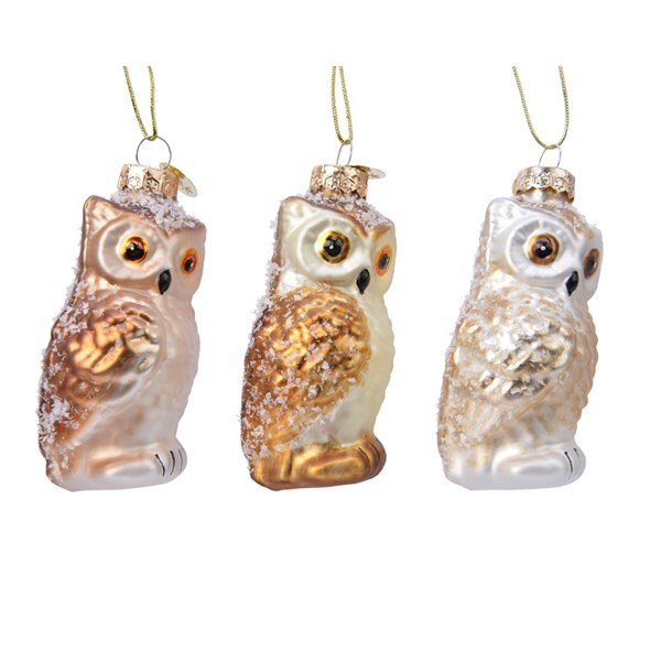 Glass Owl On Hanger