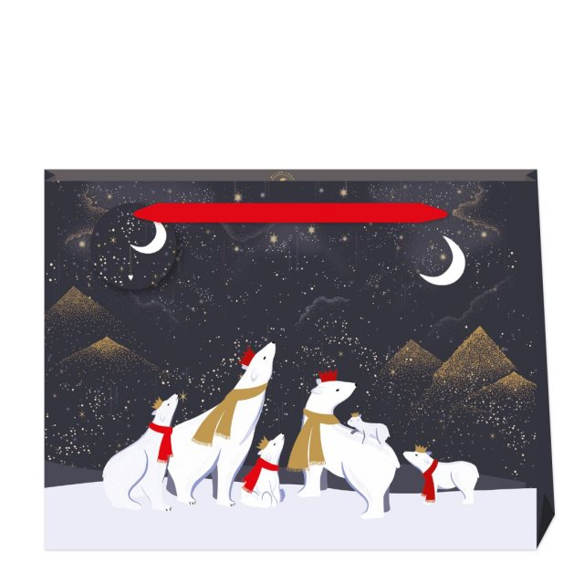 Sara Miller London Sara Miller Polar Bears Shopper Bag