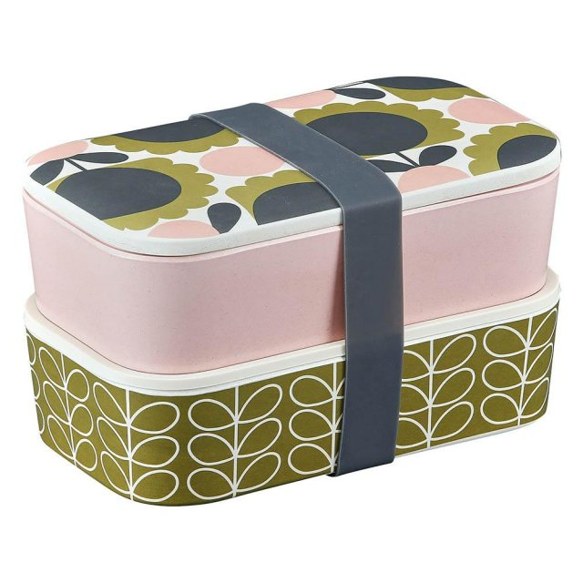 Orla Kiely Orla Kiely Forest Scallop Flower Bamboo 2 Tier Lunch Box