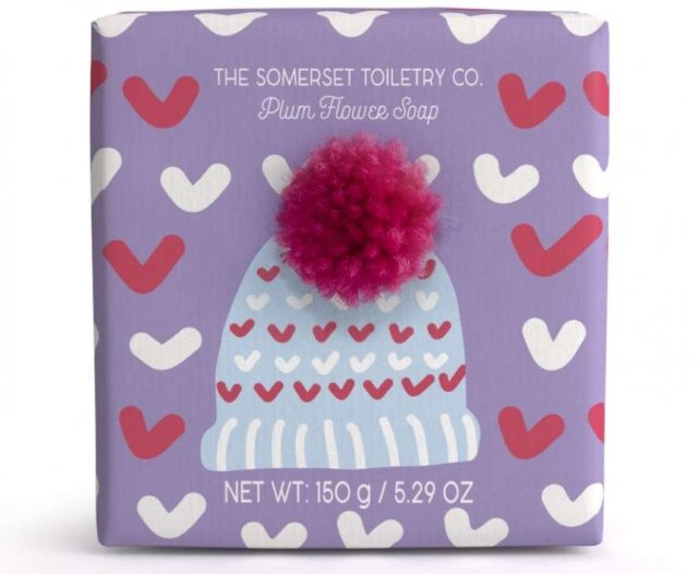 The Somerset Toiletry Company Bobble Hat Soap Plum Flower