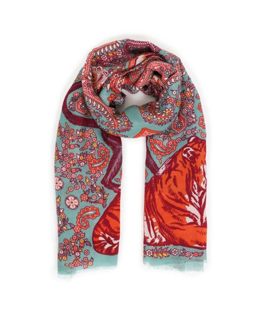 Paisley Tiger Scarf