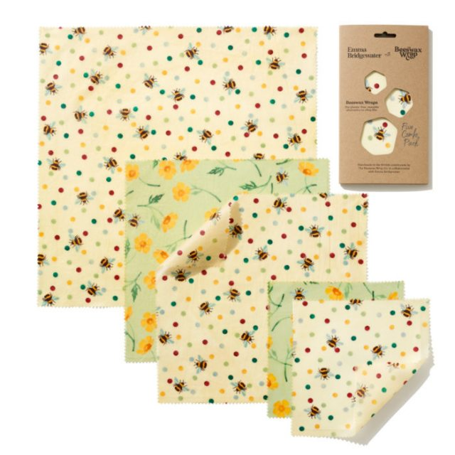 Emma Bridgewater Bees & Buttercups Beeswax Wraps 5 Combo Pack
