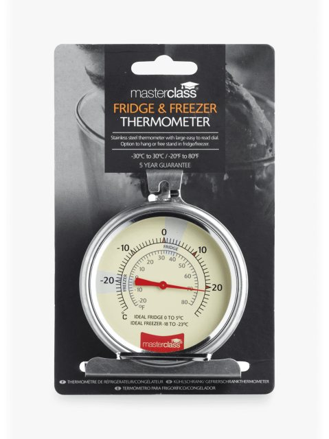 MasterClass Large Stainless Steel Fridge and Freezer Thermometer