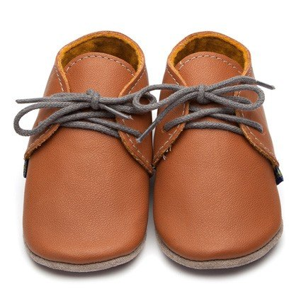 Inch Blue Brown Derby Shoes 6-12m