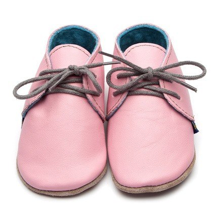 Inch Blue Pink Derby Shoes 6-12m