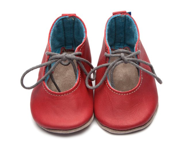 Inch Blue Red Mable Shoes 6-12 Months