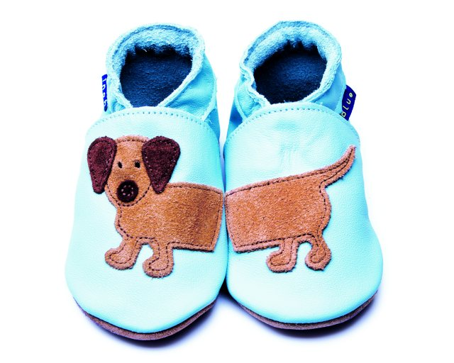 Inch Blue Baby Blue Dachshund Shoes 6-12 Months