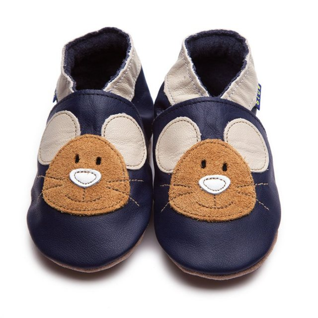 Inch Blue Blue Squeak Shoes 6-12 Months