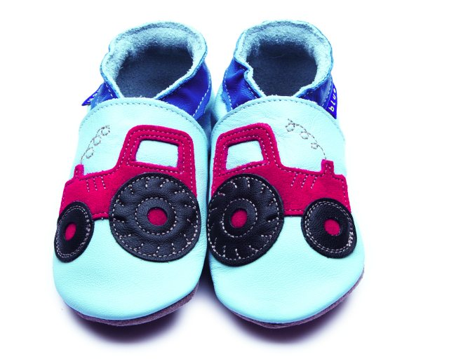 Inch Blue Baby Blue Tractor Shoes 6-12 Months