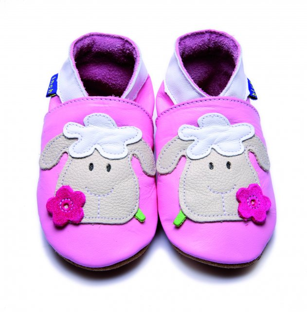 Inch Blue Baby Pink Sheep Shoes 6-12 Months