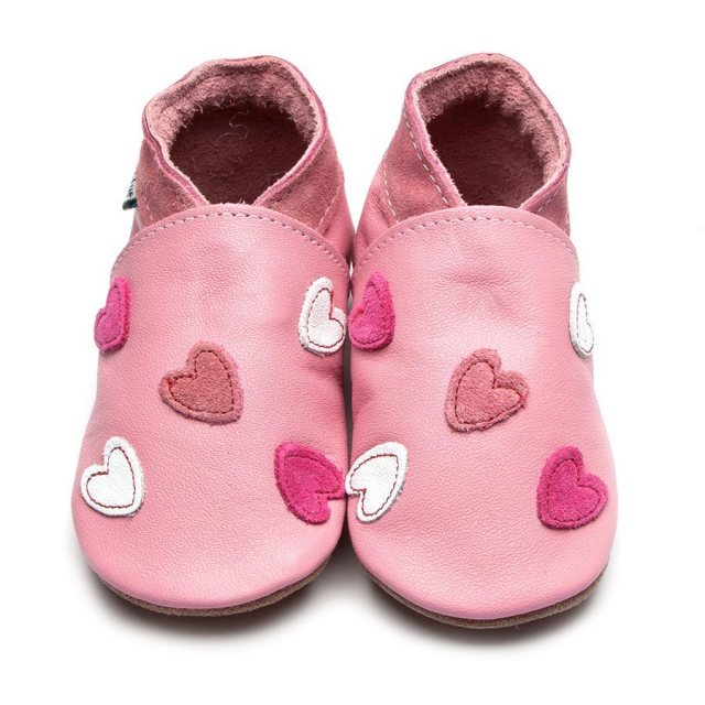 Inch Blue Baby Pink Cariad Shoes 6-12 Months