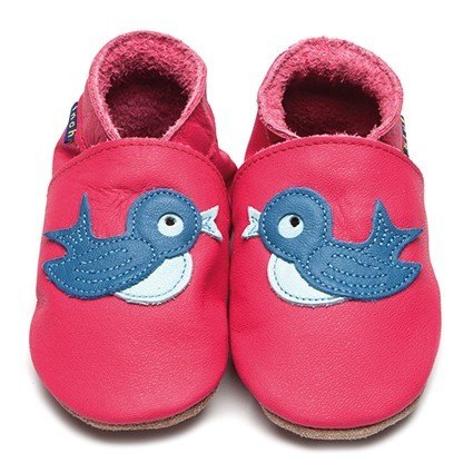 Inch Blue Pink Bluebird Shoes 6-12m