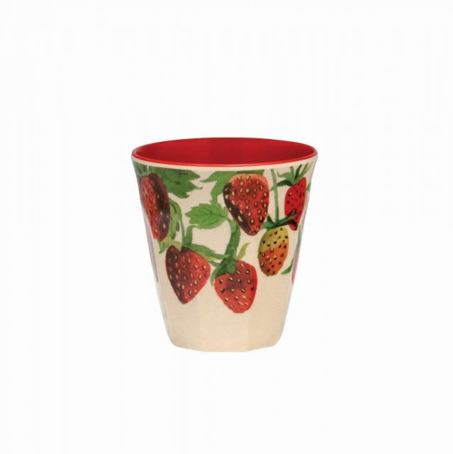 Emma Bridgewater Emma Bridgewater Strawberries Bamboo Melamine Beaker