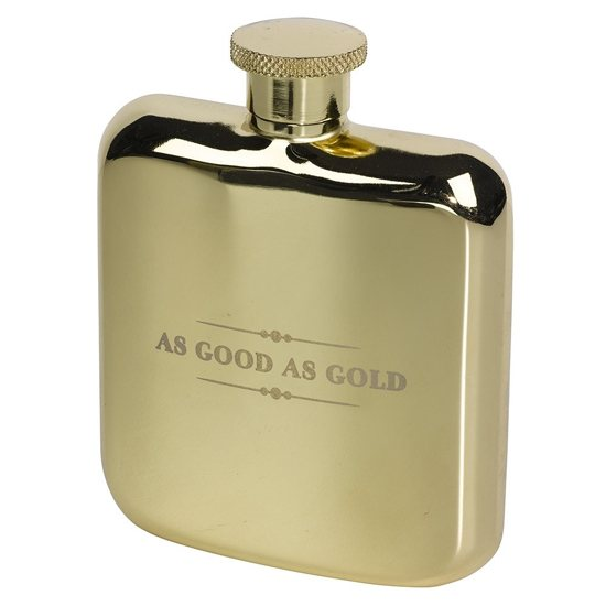 Ted Baker Ted Baker Hip Flask Gold