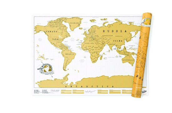 Luckies Scratch Map Personalised World Map Poster